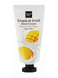 Крем для рук с маслом ши и манго, FarmStay Tropical Fruit Hand Cream Mango & Shea Butter