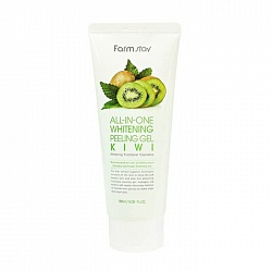 Пилинг-скатка с экстрактом киви для лица, FarmStay All In One Whitening Peeling Gel Cream Kiwi