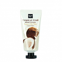 Крем для рук с кокосом и маслом Ши FarmStay Tropical Fruit Hand Cream